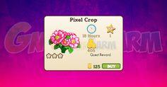 Nuova coltivazione disponibile nel Market: Pixel Crop tempo stimato per la…