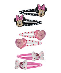 Minnie Mouse Six-Piece Snap Hair Clip Set by Minnie Mouse #zulily #zulilyfinds
