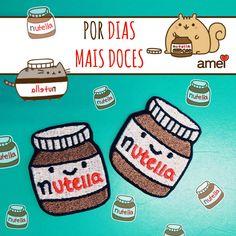 Novidades em PATCH!  Patch de Nutella ❤️ #lojaamei #Patch #nutella #doce #cute