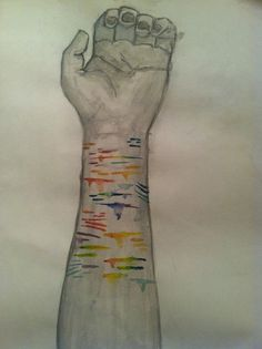 Image result for self harm art drawing