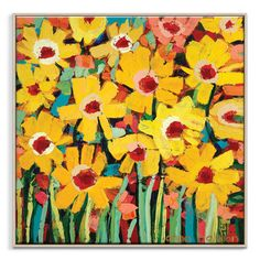 Anna Blatman | Jayas daisies | Framed Canvas | Anna Blatman by Artist Lane @ The Home