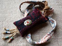 .lavender sachet necklace --- way cool idea