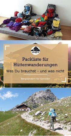 Our ultimate packing list for multi-day hut hikes. Everything you a . - Our ultimate packing list for multi-day hut hikes. Everything you need for equipment on the go. Weekend Trip Packing, Her Packing List, Ultimate Packing List, Packing List For Vacation, Packing Checklist, Vacation Destinations, Camping And Hiking, Camping Survival, Survival Skills