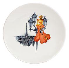 From Paris with Love Porcelain Plates #2  Le Paris de Madame-Ritz Haviland (2)