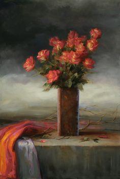 Juliette Aristides Juliette Aristides, Paint Brushes, Flower Power, Still Life, Kai, Floral Paintings, Fine Art, Illustration, Flowers