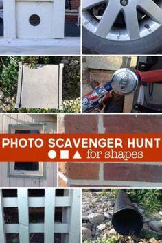 Photo Scavenger Hunt to find Shapes