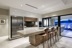 4 Refreshing Tips AND Tricks: Contemporary Chandelier Crystal contemporary kitchen curtains.Contemporary Lamp Home Office contemporary interior square feet. Kitchen Living, New Kitchen, Kitchen Decor, Kitchen Wood, Kitchen Ideas, Earthy Kitchen, Floors Kitchen, Kitchen Windows, Long Kitchen