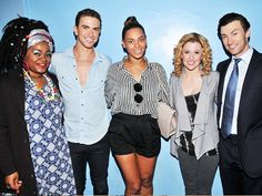 Beyonce visits with the cast of GHOST
