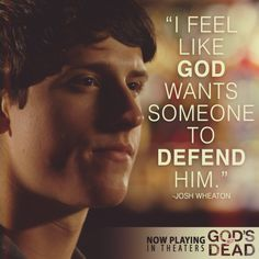 God's Not Dead - Shane Harper as (Josh Wheaton) in God's Not Dead the movie now playing in theaters;)