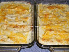 Sour Cream Chicken Enchiladas --- If your family likes Mexican food, they'll love these!  They're great and soo easy to make.  Mine are shown.