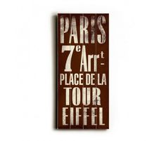Don't have the time or money to take a trip to Paris right now? Why not bring Paris to you - for $45 - with this poster? In the Yard now!    http://www.luxeyard.com/paris-transit-sign.html