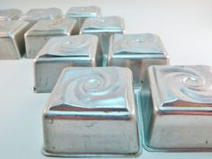 Vintage Jello Molds Square Aluminum  - these look interesting -