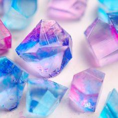 make quartz gelatin, jelly, jello 食べられる宝石 和菓子「琥珀糖」