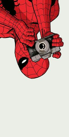 Dont mind spidey, he's just taking a picture of a cutie, keep scrolling (My wallpaper btw) - Funny