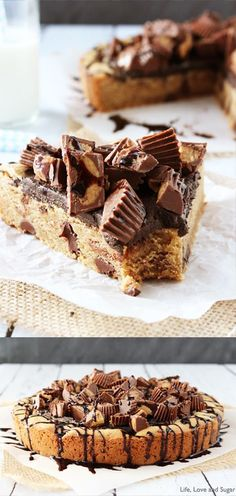 Reese's Peanut Butter Chocolate Chip Cookie Cake @koriyekstat next year?