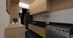 Projeto reforma apartamento S+E - Vivero Imagens 3d SketchUp +  Vray