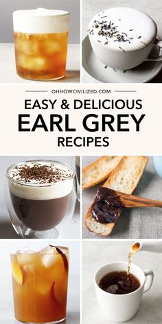 Earl Grey is delicious and versatile in these easy to make recipes! From decadent tea latte recipes to sweets all your favorite treats made with Earl Grey! Winter Tea Recipe, Hot Tea Recipes, Drink Recipes, Peach Ice Tea, English Breakfast Tea, Earl Grey Tea, Latte Recipe, Tea Sandwiches, Best Tea