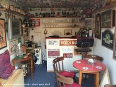 Man shed bar ideas bar pub entertainment from garden owned by lee man cave shed Man Cave Pub, Man Cave Shed, Man Cave Home Bar, Outdoor Sheds, Outdoor Rooms, Outdoor Stuff, Man Shed Bar, Party Shed, Outdoor Kitchen Bars