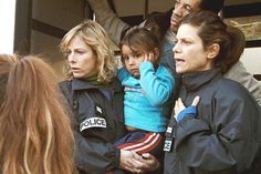 """Polisse: Karin Viard, left, Marina Foïs and Joeystarr, rear, in """"Polisse,"""" which follows the Paris police Child Protection Unit."""