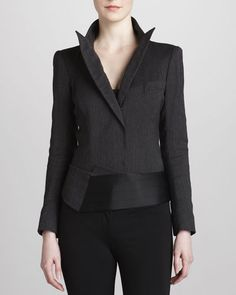 Donna Karan Pinstripe Bodysuit Jacket