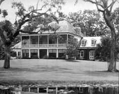 Louisiana Plantations, Louisiana Bayou, New Orleans Louisiana, Slidell Louisiana, Loyola University New Orleans, Alexandria Louisiana, Southern Plantation Homes, Creole Cottage, Houses