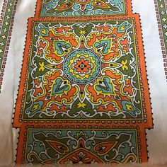 4.3 Yards Vintage Boho  Floral Mandala Fabric Material Quilting Sewing Crafts  | eBay
