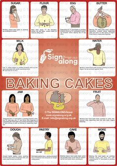 Baking Cakes Poster, J) Posters, Signalong Store