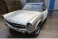 1966 Mercedes-Benz, 230SL  Mercedes Benz 230 SL Pagode 1966 for restoration  This is a 1966 Mercedes Benz 230 SL. The car has the original 2306CC, 6 cyl engine. The car is ready for full restoration and a good hard top is included. The engine turns by hand. This 230 SL has american title and the necessary importdocuments. The car is a good basis for restoration and an interesting investment.   ..  http://www.collectioncar.com/detailed.php?ad=65765&category_id=1
