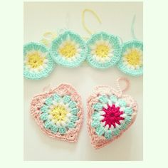 sweet_sharna crochet hearts