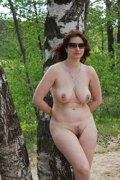 outdoors Mature posing amateur women nude