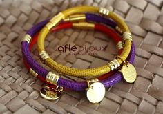 3 African Bracelet Aflé Bijoux Leather Bracelet  for by AFLEBijoux, €90.00  #cuir #aflebijoux #etsy