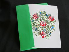 "Blank Art Card - ""Christmas Joy"" - 5 x 7 - Mandala - Holiday - Birds - Evergreens - Whimsical - Playful by CreateThriveGrow on Etsy https://www.etsy.com/listing/255088888/blank-art-card-christmas-joy-5-x-7"