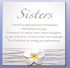 even though we fight i would be lost without my sister. and i was blessed with two amazing step sisters as well! Little Sister Quotes, Big Brother Little Sister, Sister Poems, Love My Sister, Sister Friends, Little Sisters, My Love, Sister Sister, Funny Sister