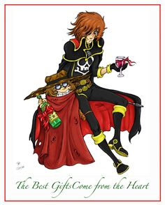 Merry Christmas from Harlock and Tochiro