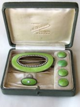 Marius Hammer Rare Cased Set Sterling Enamel Buckle Brooch and Buttons Norway: Removed Vintage Outfits, Vintage Clothing, Vintage Fashion, Stick Pins, Hat Pins, Vintage Buttons, Vintage Love, Belt Buckles, Silver Jewelry