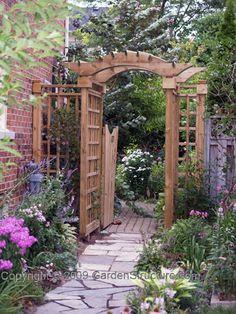 Garden Arbour with Gate