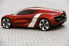 "Renault's electric motor supercar ""DeZir"" was recently shown at the 2010 Paris Auto Show"