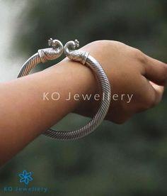 The Mayukhi Silver Peacock Bracelet