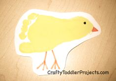 Footprint Chicks for Easter  #preschool   #toddler   #homeschool   #eastercrafts   #footprint  #craft #art