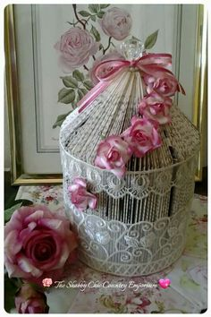 Folded Book Birdcage by The Shabby Chic Country Emporium