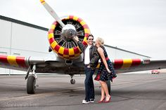 40's vintage engagement shoot photographed by Stephanie Fay