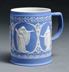 Adams Blue Jasper Dip Mug, England, c. 1800.