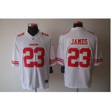 ba00d997725d3 Nike Mens San Francisco 49ers LaMichael James Jersey 23 Game Team Color  White Lamichael James