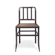 Real Material Leather & Metal Side Chair