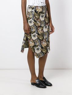 Stella McCartney 'Anna' jacquard cat skirt