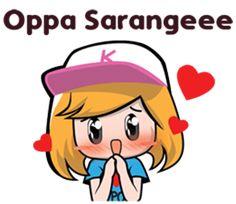I'm a kpop girl and I love korea korea is my dream faything ❤❤ Korean Phrases, Korean Words, Emoji, Love Cartoon Couple, Cute Cartoon, Korean Anime, Anime Korea, Korean Expressions, Korean Stickers