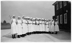 1936 St Mary's Hospital, Portsmouth. Old Pictures, Old Photos, History Of Nursing, Portsmouth England, Hampshire Uk, Hms Victory, Vintage Medical, Nurse Stuff, Beautiful Places To Visit