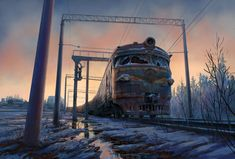 ArtStation - Train ER-2 from my childhood, Anna Agafonova