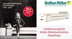 Jubiläumsangebot: Müller Möbelwerkstätten Stapelliege 90x200 cm 50 Jahre Stapelliege - 50€ Jubiläumsrabatt Mehr erfahren:  https://www.bettenritter.com/Jubilaeumsangebot-Mueller-Moeb…
