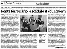 Ponte ferroviario, è scattato il countdown | Comitato Pendolari Siciliani